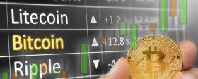 数字货币行情回顾:比特币上涨0.28%、FTC币上涨最快涨幅达78.14%